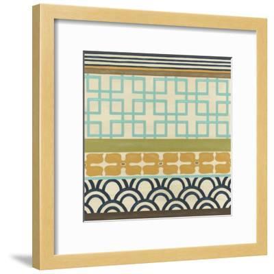 Non-Embellish Geometric Frieze III-Erica J^ Vess-Framed Art Print