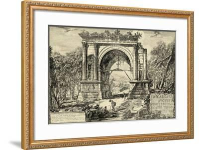 Vintage Roman Ruins II-Giovanni Piranesi-Framed Art Print