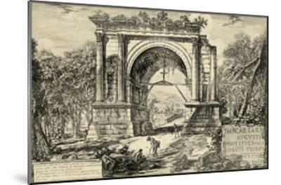 Vintage Roman Ruins II-Giovanni Piranesi-Mounted Art Print