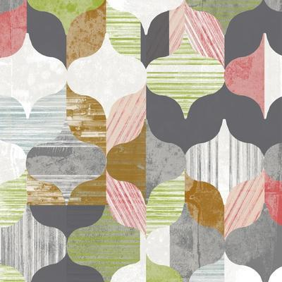 Arabesque Shapes II-Jennifer Goldberger-Framed Art Print