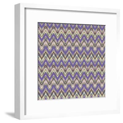 Chevron Waves IV-Katia Hoffman-Framed Art Print