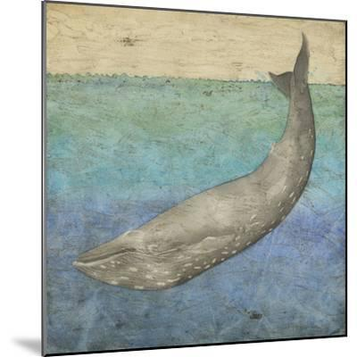 Diving Whale I-Megan Meagher-Mounted Art Print