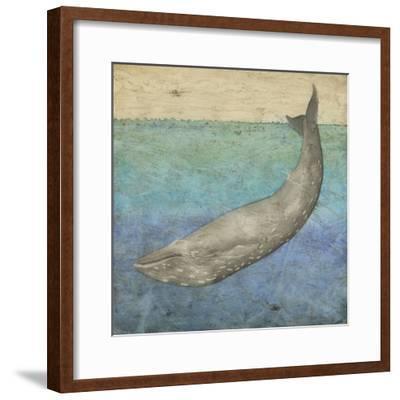 Diving Whale I-Megan Meagher-Framed Art Print