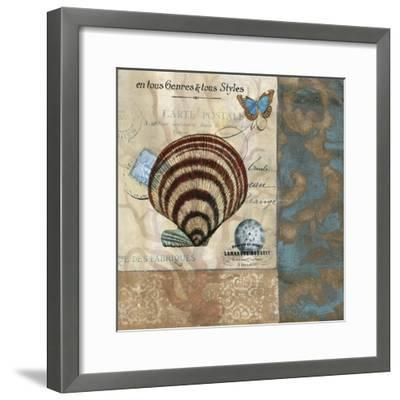 Botticelli Shell II-W^ Green-Aldridge-Framed Art Print