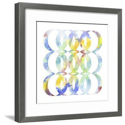 Metric Watercolors I-Jennifer Goldberger-Framed Art Print