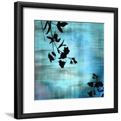 Aqua Floral II-James Burghardt-Framed Art Print