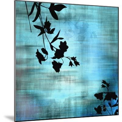 Aqua Floral II-James Burghardt-Mounted Art Print