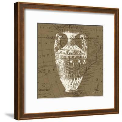 Map Bottles II-James Burghardt-Framed Art Print