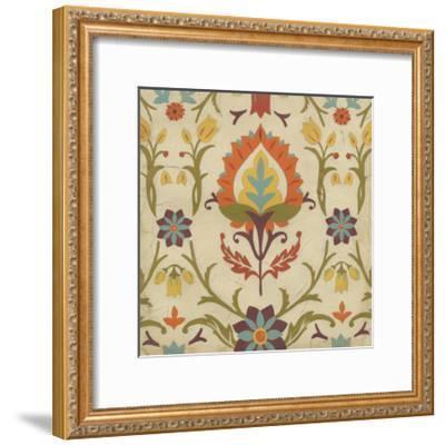 Vintage Damask II-June Erica Vess-Framed Art Print