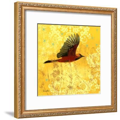 Oriole and Cartouche III-Evelia Designs-Framed Art Print