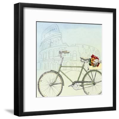 Biking Through Rome-Naomi McCavitt-Framed Art Print