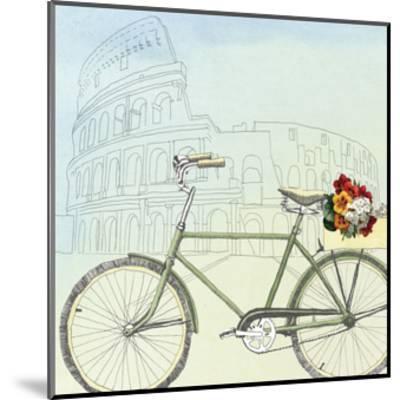 Biking Through Rome-Naomi McCavitt-Mounted Art Print