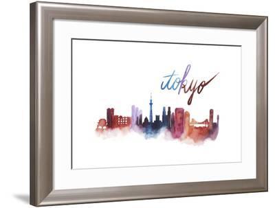 World Cities Skyline II-Grace Popp-Framed Art Print