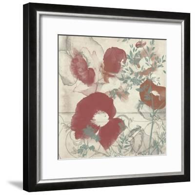 Floral Flutter I-Jennifer Goldberger-Framed Art Print