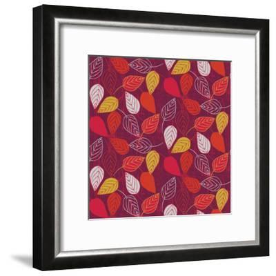 Red Fall VII-Ali Benyon-Framed Art Print