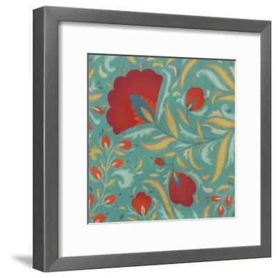 Vibrant Textile I-June Erica Vess-Framed Art Print