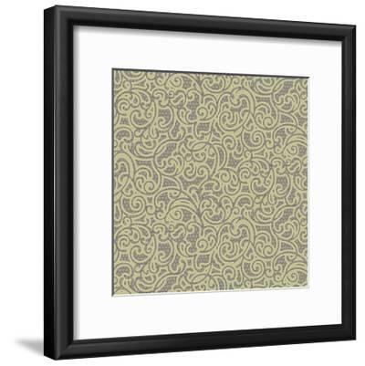 Sheer Romance Scroll I-Katia Hoffman-Framed Art Print