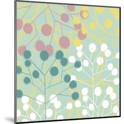 Popping Flowers II-Ali Benyon-Mounted Art Print