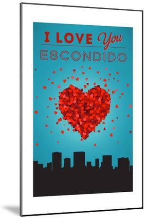 I Love You Escondido, California-Lantern Press-Mounted Art Print