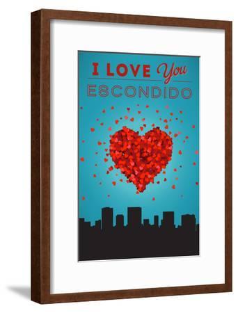 I Love You Escondido, California-Lantern Press-Framed Art Print