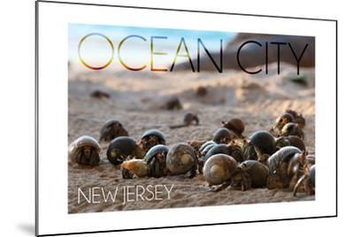 Ocean City, New Jersey - Group of Hermit Crabs-Lantern Press-Mounted Art Print
