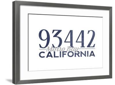 Morro Bay, California - 93442 Zip Code (Blue)-Lantern Press-Framed Art Print