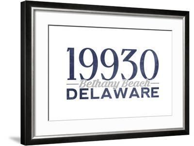 Bethany Beach, Delaware - 19930 Zip Code (Blue)-Lantern Press-Framed Art Print
