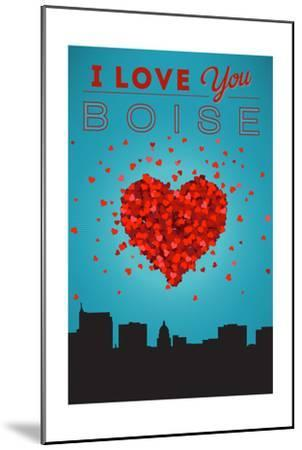 I Love You Boise, Idaho-Lantern Press-Mounted Art Print