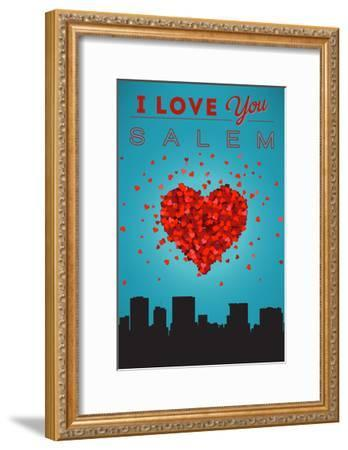 I Love You Salem, Oregon-Lantern Press-Framed Art Print