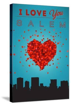 I Love You Salem, Oregon-Lantern Press-Stretched Canvas Print