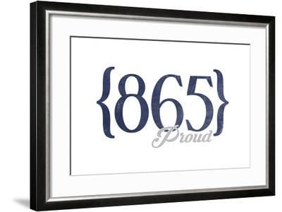 Pigeon Forge, Tennessee - 865 Area Code (Blue)-Lantern Press-Framed Art Print