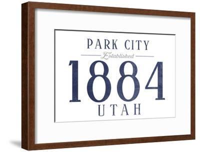 Park City, Utah - Established Date (Blue)-Lantern Press-Framed Art Print
