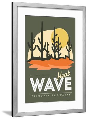 Heat Wave (Cactus) - Discover the Parks-Lantern Press-Framed Art Print