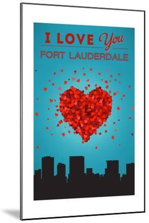 I Love You Fort Lauderdale, Florida-Lantern Press-Mounted Art Print