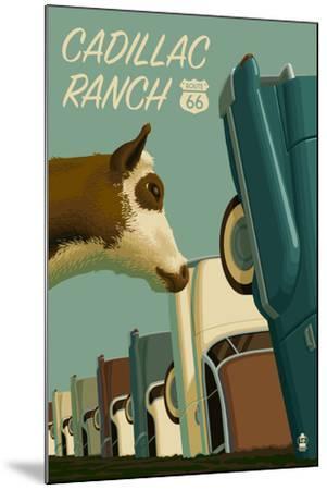 Cadillac Ranch, Texas - Route 66-Lantern Press-Mounted Art Print