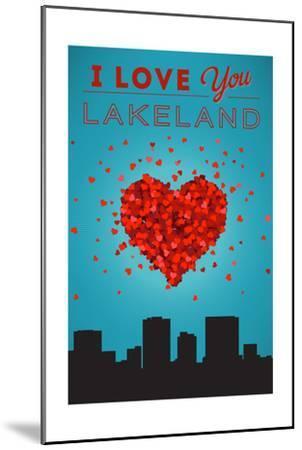 I Love You Lakeland, Florida-Lantern Press-Mounted Art Print