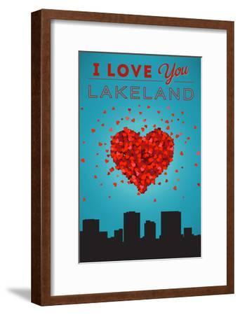 I Love You Lakeland, Florida-Lantern Press-Framed Art Print