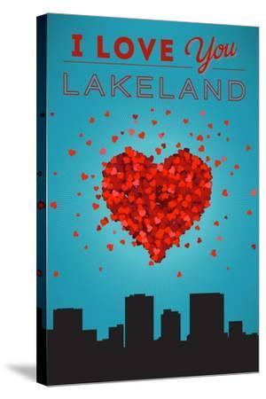 I Love You Lakeland, Florida-Lantern Press-Stretched Canvas Print