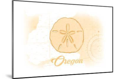 Oregon - Sand Dollar - Yellow - Coastal Icon-Lantern Press-Mounted Art Print