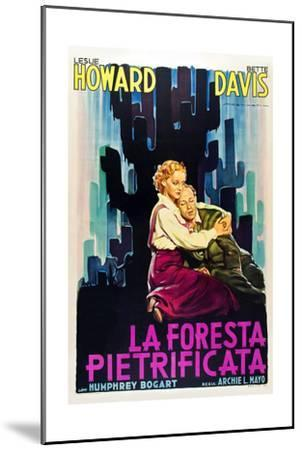 The Petrified Forest - (#1) Vintage Movie Poster-Lantern Press-Mounted Art Print