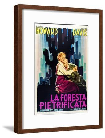 The Petrified Forest - (#1) Vintage Movie Poster-Lantern Press-Framed Art Print