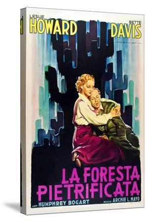 The Petrified Forest - (#1) Vintage Movie Poster-Lantern Press-Stretched Canvas Print