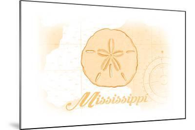 Mississippi - Sand Dollar - Yellow - Coastal Icon-Lantern Press-Mounted Art Print