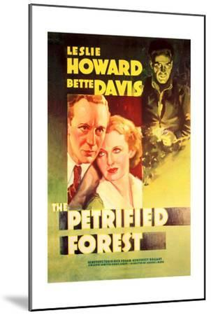 The Petrified Forest - (#2) Vintage Movie Poster-Lantern Press-Mounted Art Print