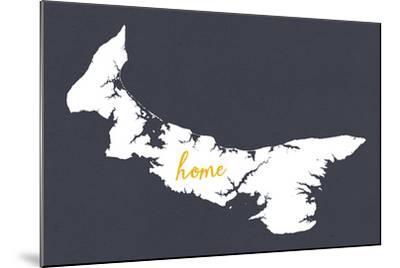 Prince Edward Island - Home - White on Gray-Lantern Press-Mounted Art Print