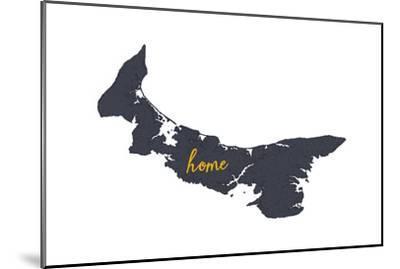 Prince Edward Island - Home - Gray on White-Lantern Press-Mounted Art Print