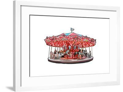 Carousel - Icon-Lantern Press-Framed Art Print