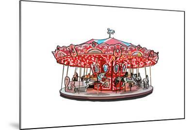 Carousel - Icon-Lantern Press-Mounted Art Print