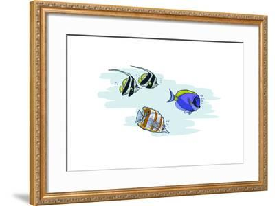 Tropical Fish - Icon-Lantern Press-Framed Art Print