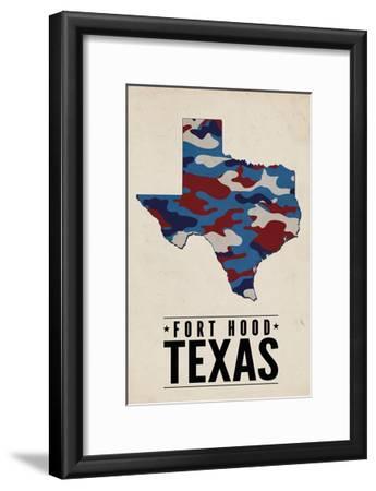 Fort Hood,Texas - the Lone Star State - Camo State-Lantern Press-Framed Art Print